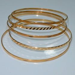 Bracciali Rigidi schiava Oro giallo18kt diametro cm7