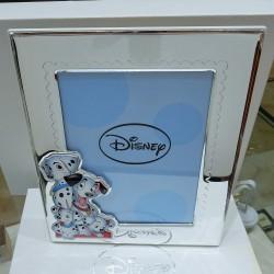 Cornice Disney bimbo/bimba carica dei 101 laminata argento925% retro bianco
