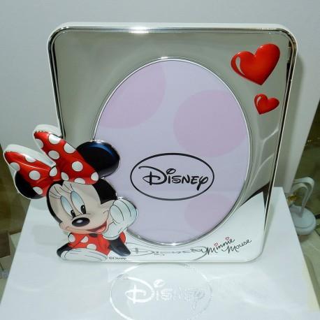 Cornice Disney bimba MINNIE MOUSE laminata argento925% retro bianco
