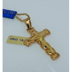 Crocifisso Pendente Gesù in Oro Giallo18kt-750%
