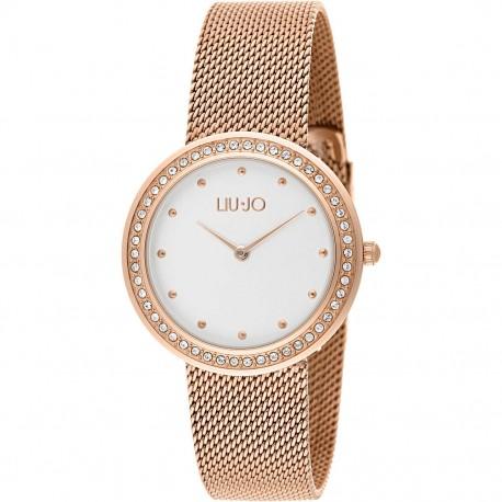 Liujo orologio solo tempo donna ramato Liujo Luxury Round strass