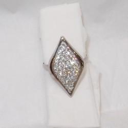 Anello Oro bianco18kt-750%. con cristalli resinati