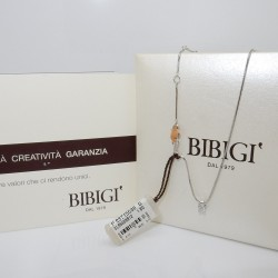 Girocollo Diamante CT 0.12 punto luce in Oro bianco18kt by BIBIGì ref: CLS5458B12