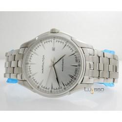 Orologio Hamilton Men's JAZZMASTER White Dial Steel Bracelet Watch H32715151