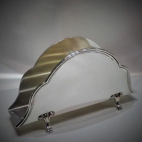Portatovaglioli in Argento 800% massiccio stile inglese minifattura Made in Italy