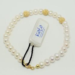 KIOTO BRACCIALE donna gioielli Perle 5/6 mm Oro Bianco 298AS