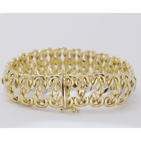 Bracciale donna Oro giallo bianco 18kt-750 SCHIAVA GRAMMI 33,40