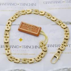 Bracciale uomo catena oro giallo 18 kt - 750%. Oro 21,30 grammi