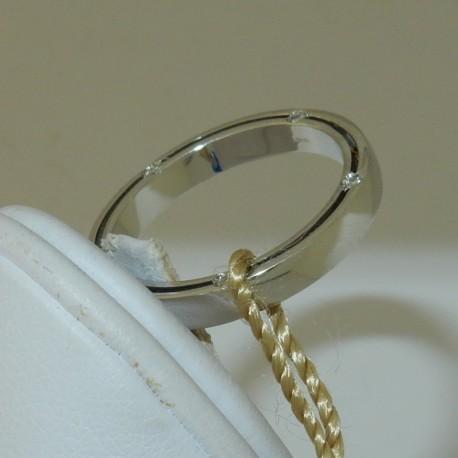 Fede Anello Modello Damiani in Oro bianco18kt e 10 Diamanti