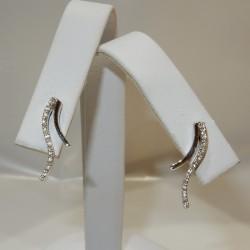 Orecchini pendenti Oro bianco 18 kt Diamanti naturali certificati