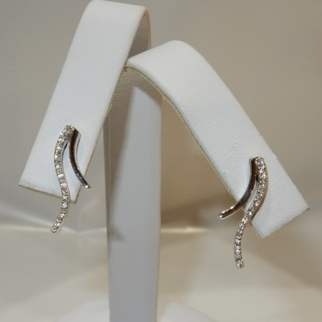 Orecchini pendenti Oro bianco 18kt Diamanti naturali certificati
